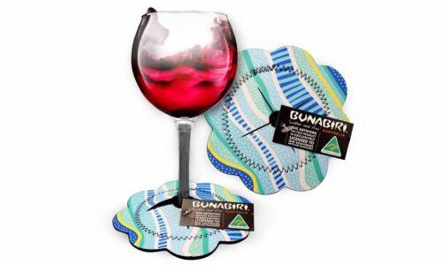 Gudhu Galba Rainbow Reef Wine Glass Coaster Aboriginal Design - Jedess Hudso