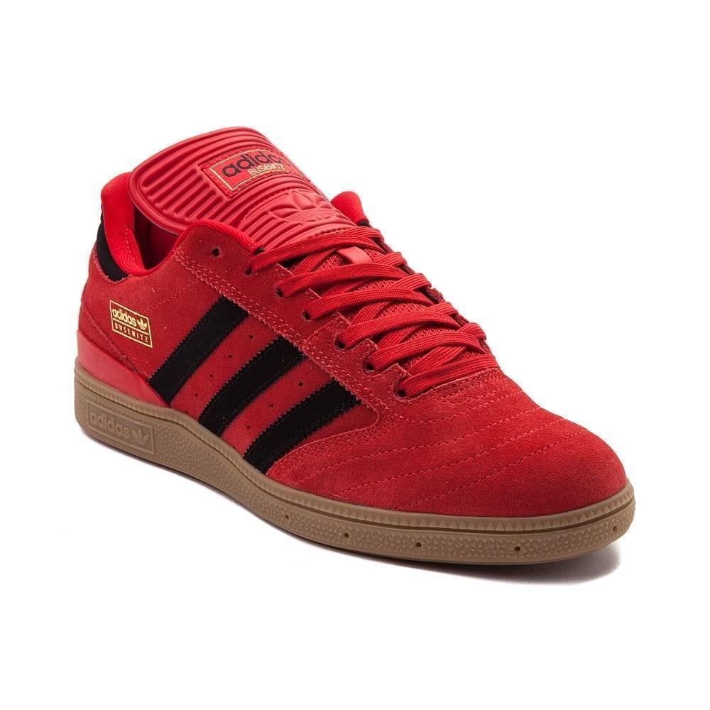 Neu Herren Adidas Busenitz Athletic Schuhe Rot Schwarz   | Tadellos