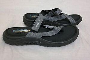 882eb3adad61 New!! Skechers Women s Reggae Rasta Vibes Thong Sandal Black F51