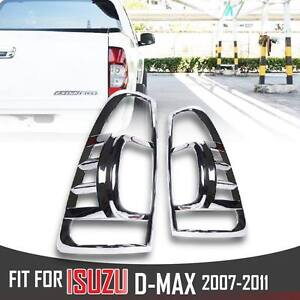 Details about CHROME TAIL LIGHT LAMP REAR COVER TRIM PICKUP ISUZU D-MAX  DMAX D MAX RODEO 07-11