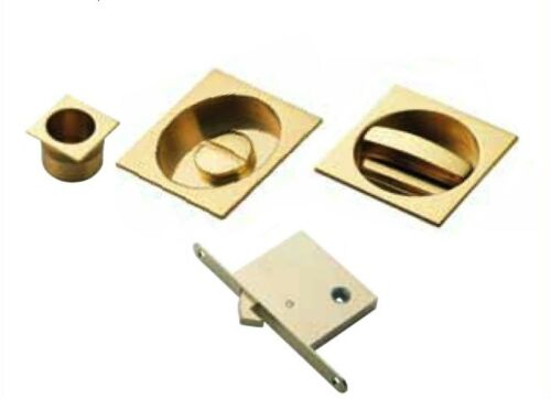 Carlisle Brass Sliding Door Set with WC Turn ART55BQ Flush Pull and Lock