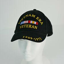 Black Vietnam Veteran Embroidered Pigment Dyed Brass Buckle Cap