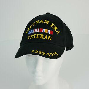 Rothco Mid-Low Profile Black Vietnam Vet Hat Vietnam Era Veteran Baseball Cap