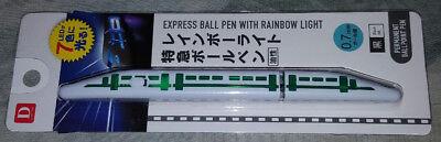 Japanese SHINKANSEN bullet train pen with flashing LED lights NEW! blue