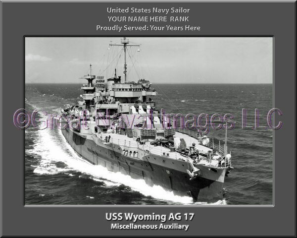 USS Wyoming AG 17 Personalized Canvas Ship Photo Print Navy Veteran Gift