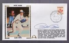 Gateway Silk Cachet PETE ROSE Montreal Expos Auto 4,000 Hits Postmark 4/13/1984