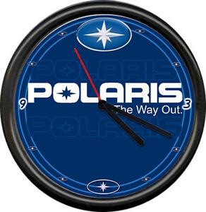 Polaris Way Out Snowmobile Dealer Racing Sales Repair Sign Wall Clock