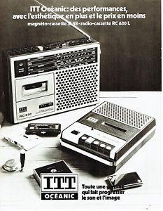 Publicite-Advertising-108-1978-ITT-Oceanic-magneto-cassettes-radio-RC-630