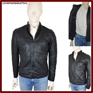 the best attitude 725c9 c0e30 Dettagli su Giubbotto da uomo invernale con pelliccia nero giubbino giacca  ecopelle inverno
