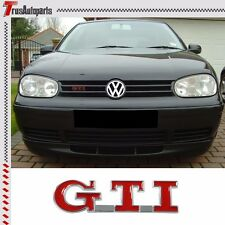 3D Red GTI Front Hood Grille Emblem Badge Decal Sticker Metal For Golf MK3 MK4