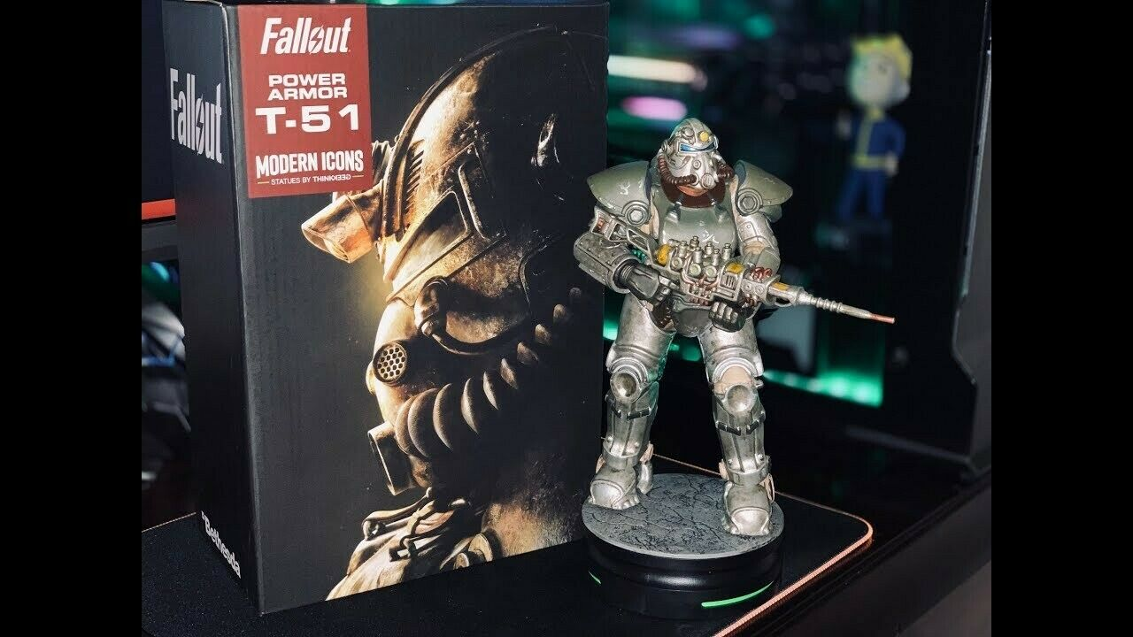 Fallout T-51 Power Armor - Statue - NEU OVP