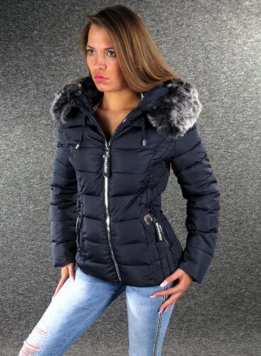 Xl 1028 Fell S cappuccio L M Giacca Navy Giacca con donna Xxl da Zazou Winter Jacket qYwCgZ