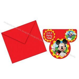 Detalles De Fiesta De Cumpleaños Tarjetas Invitaciones Mickey Mouse Fiesta Casa Club De Mickey Mouse 6pz Ver Título Original