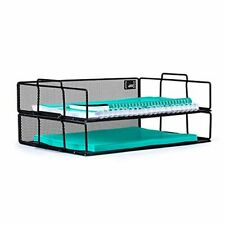 Mindspace 2 Tier Stackable Letter Tray Desk Organizer Stackable Paper Tray Org