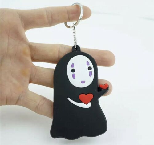 New Anime Spirited Away No Face Hearts Keychain