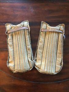 Vintage Cricket Shin Guards Pair of 2 Leather
