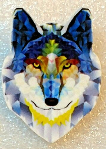 Wolf Head Large Artistic Acrylic Pin Brooch Jewelry
