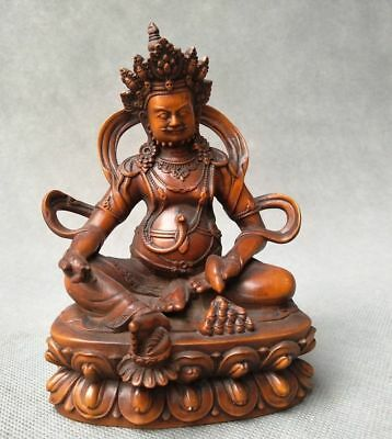 Woodenware Self-Conscious Collection Exquisite Chinese Boxwood Fine Hand Carved Buddha Statue Smoothing Circulation And Stopping Pains Carved Figures
