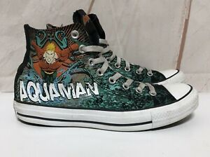 598bf5fb4d1d Details about AQUAMAN Converse Chuck Taylor High Top Sneakers Mens Size 8  Women 10