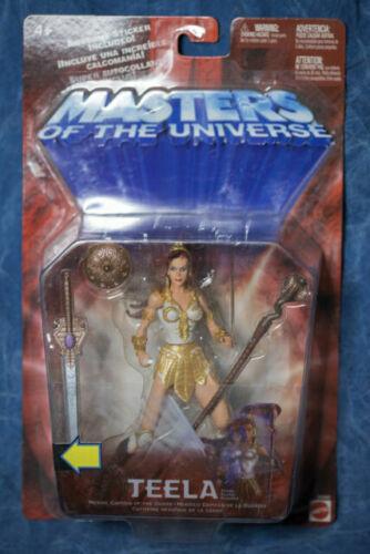 MASTERS OF THE UNIVERSE MOTU HE-MAN 200x//2002 TEELA CAPTAIN GUARD 100/% COMPLETE
