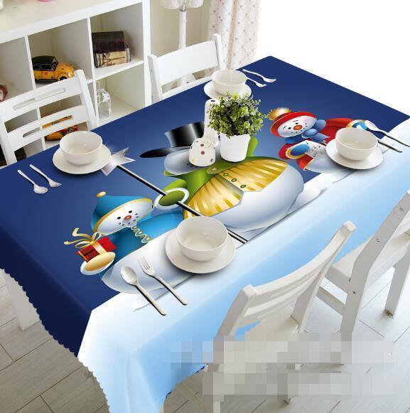 3D Snowmans 54 Tablecloth Table Cover Cloth Birthday Party Event AJ WALLPAPER AU