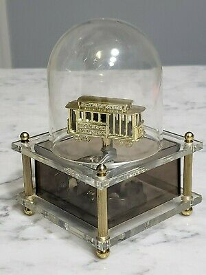 Beste 1960s San Francisco Dome Spinning Trolley Cable Car Music Box GD-39