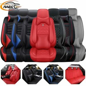 14pc Interior Leather Car Seat Cover Waterproof 5 Seats Truck Full Set Protector Ebay