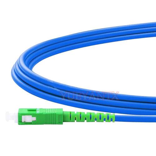10m SC APC to SC APC Simplex Single Mode Armored PVC Fiber Patch Cord Cable