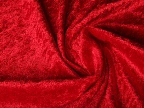 Pannesamt Samt Stoff Meterware weich fallend glänzend Rot EUR 3,97//m