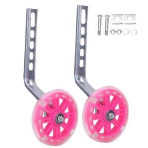 2x Kids Bicycle Training Wheels For 12 20inch Bikes With Support Bracket Part Ebay