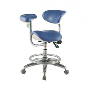 Dental-Saddle-Doctor-Seat-Chair-Deluxe-Dentist-Stool-with-Armrest-PU-Leather-Wd