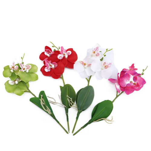 Home Artificial Butterfly Orchid Fake Flowers Bouquet For Wedding Decoration O3