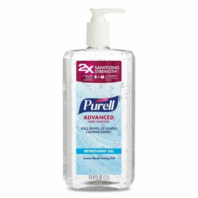 PURELL Advanced Hand Sanitizer Refreshing Gel Pump Bottle - 33.8oz