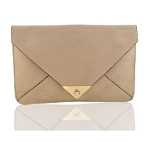 Women-Beige-SYNTHETIC-ENVELOPE-EVENING-HANDBAG