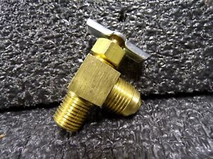 ZORO SELECT 6MM63 Needle Valve,Angled,Brass,1//8 x 1//4 In.