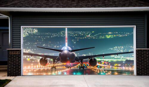 Garage Door Covers 3d Effect Banner Airplane Mural Full Color