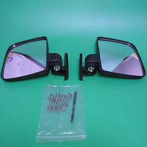 Universal Golf Cart Folding Side View Mirrors, Club Car, EZGO, Yamaha,Zone Carts