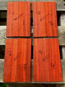 African Padauk Bookmatched Razor Scale/petite Poignée De Couteau/5 Mm Sets-afficher Le Titre D'origine MatéRiau SéLectionné
