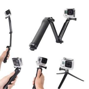 hand grip arm 3 way selfie stick tripod mount monopod for gopro hero 2 3 3 4 5 ebay. Black Bedroom Furniture Sets. Home Design Ideas