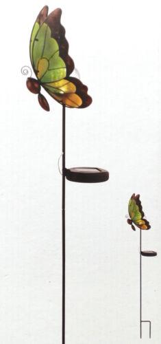 LED Solarleuchte Solarstab Schmetterling grün TOP sehr groß Gartenlicht