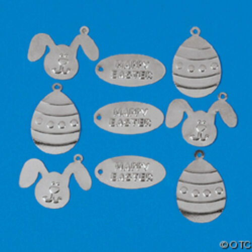 Easter Charms Flat Eyelet Scrapbooking Embelishments Lot of 18