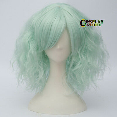 35cm Mint Green Curly Party Show Women Anime Heat Resistant Cosplay Wigs