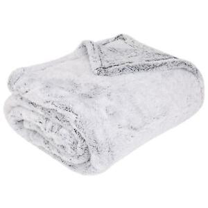 luxury shimmer fleece throw faux fur winter warm blanket throws