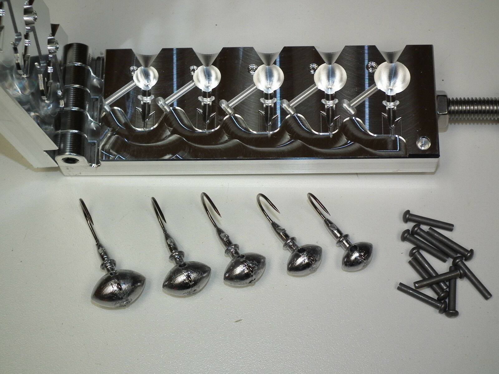 Freshwater Football -2  mold 3 8, 1 2, 5 8, 3 4, 1oz 32786 CNC Aluminum