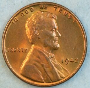 1942-P-Lincoln-Wheat-Cent-UNCIRCULATED-BU-UNC-GEM-FAST-S-amp-H-34022