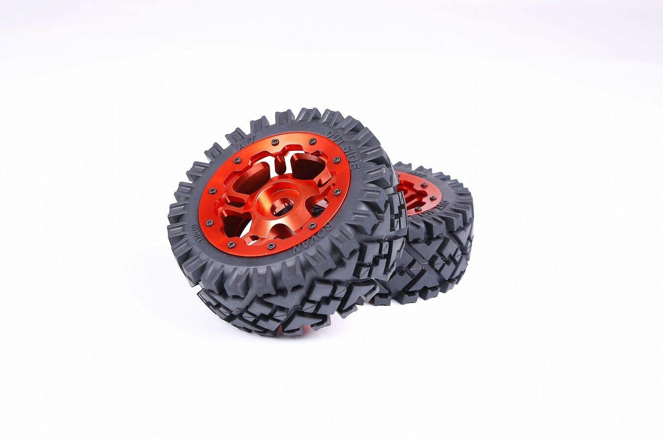 - alle - terraner reifen mit Orange - roten hub hat 2pcs fr hpi baja 5b