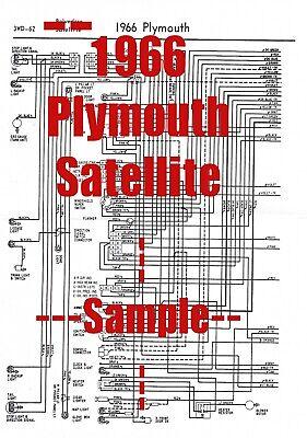 1966 Plymouth Satellite Full Car Wiring Diagram *High ...