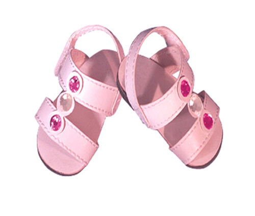 Pink Sandals with Crystals Fits 18 inch American Girl Dolls