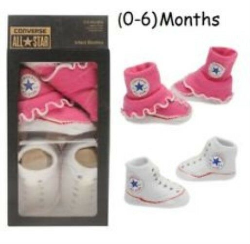 dacef59974d4 Converse All Star Baby Chucks and Bib Gift Set Pink White for sale online