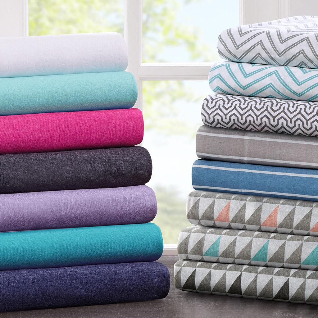 Intelligent Design Cotton Blend Jersey Knit All Season Sheet Set